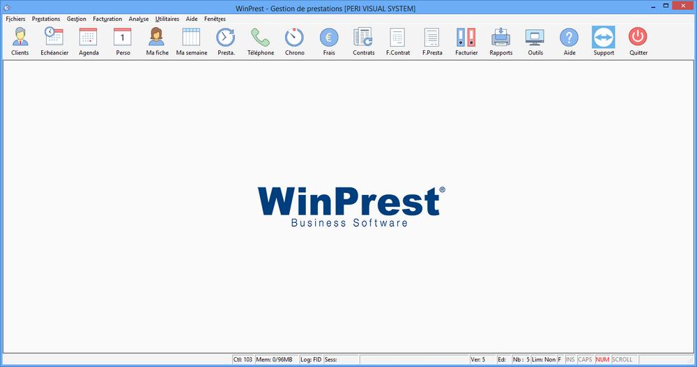 Capture d'écran Winprest